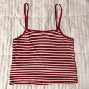 Brandy red striped tank top